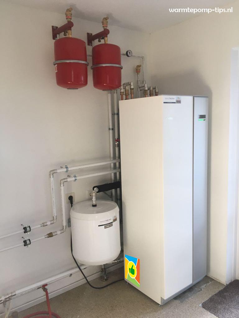 Warmtepomp met serie buffer