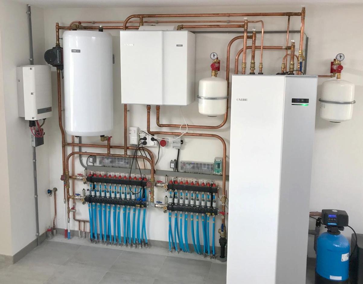 Warmtepomp-installatie
