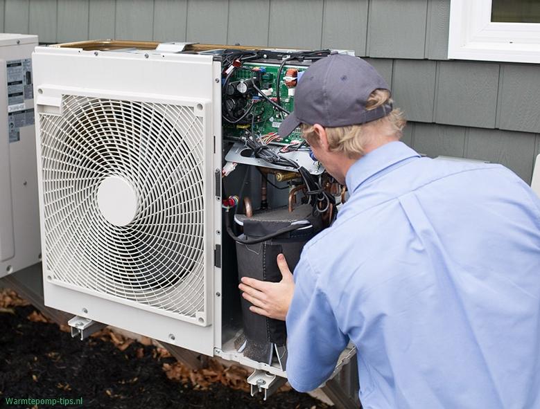 Onderhoud en inspectie van een warmtepomp